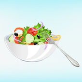 Fresh vegetarian vegetable salad — Stock Photo