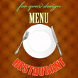 Abstract dark background with template for design menu your restaurant — Grafika wektorowa
