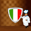Traditional italian best food from Chef.Menu design - Stock Photo