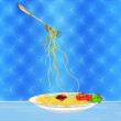 Traditional italian best food from.Spaghetti — Stock Photo