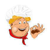 Funny Chef.Best food for gourmet.Vector — Stock Vector