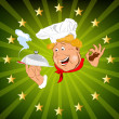 Funny Chef and fresh food — Stock Photo #21413023
