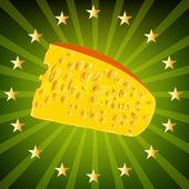 Cheese.sticker laitiers naturels suisses — Photo
