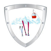 Emblem skiing tourist resorts — Stock Photo