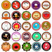 Conjunto de ícones do vetor e elementos para o alimento — Vetorial Stock