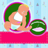 Healthy nutrition food for baby — Stock Photo