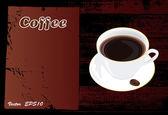Brochure menu for restaurant, cafe.Vector — Stock Vector