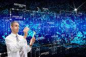 Engineering designing cosmic technology — Stock Photo