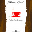 Brochure menu for restaurant, cafe.Coffee and tea — Foto Stock #22777026