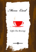 Brochure menu for restaurant, cafe.Coffee and tea — Stock Photo