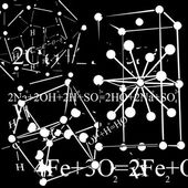 Chemistry research abstract background — Stock Photo