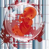 Das klonen. medizinische forschung in die genetik der zukunft — Stockvektor