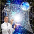 Stock Photo: Designing cosmic Internet technologies