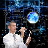 The designing cosmic technologies — Stock Photo