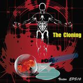 La clonazione. future.genetic research.vector — Vettoriale Stock
