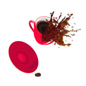 Red Coffee cup on a white background. Restaurant business — Stock Photo