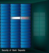 Security of bank deposits.Vector background — Stock Vector