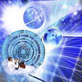 Concept novateur de internet.connection programmation — Photo