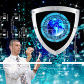 The newest Internet technology.Connection.Cybersecurity — Stock Photo