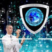 El nuevo technology.connection.cybersecurity de internet — Foto de Stock