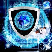 De nieuwste internet-technology.connection.cybersecurity — Stockfoto