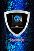 En yeni internet technology.connection.cybersecurity.vector — Stok Vektör