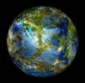 Globe Earth on a black background — Stock Photo