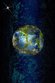Innovative programming high technological internet.Globe Earth — Stock Photo