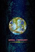 Innovative programming high technological internet.Globe Earth.Vector — Stock Vector