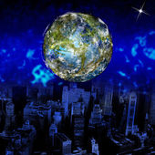 Innovative programming internet.Globe Earth — Stock Photo