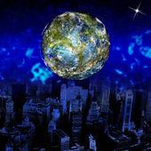 Innovatieve programmering internet.globe aarde — Stockfoto