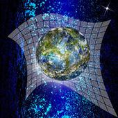 Terre de internet.globe programmation innovante — Photo