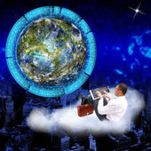 The newest ecological technologies Earth — Stock Photo