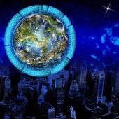 La nueva tierra de ecotecnologías — Foto de Stock