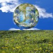Beautiful green planet Earth — Stock Photo