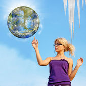 Global warming. Ecology concept — Stockfoto