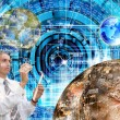 Innovative space research in the development of galactic space — Stock Photo