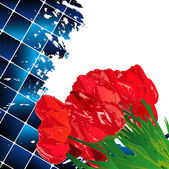 çiçek tatil kutlama kartı — Stok fotoğraf