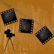 Retro cinematography.Abstract background — Stock Photo