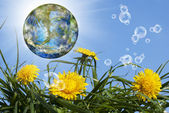Geo technology.Nature background.Climate — Stock Photo