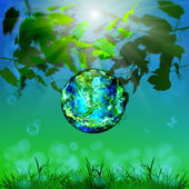 Earth day.Season nature.Safety climate background — Stock Photo