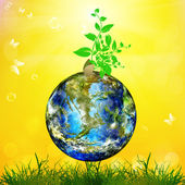 Earth day.Season nature.Safety climate Earth — Stock Photo