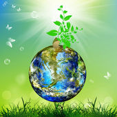 Earth day.Season nature.Climate Earth — Stock Photo