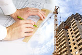 Engineering Designing of buildings and constructions — Stock Photo