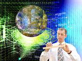 Engineering designing Internet communication — Stock Photo