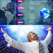 Programming Internet website network — Stock Photo
