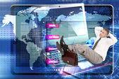 Internet website network.E-business — Stock Photo