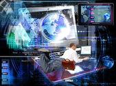 Sitio web network.e-negocios en internet — Foto de Stock
