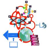 Website intenet network — Stock Vector
