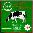 Vector de stock : Tasty fresh delicious dairy food poster.Vector illustration